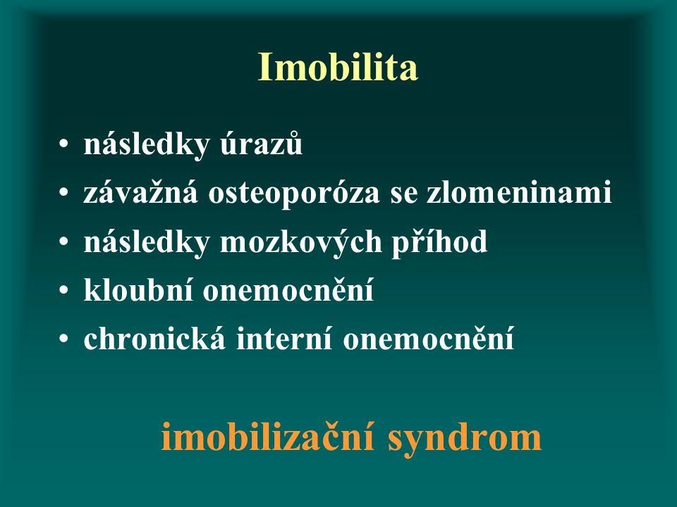 Imobilita imobilizační syndrom