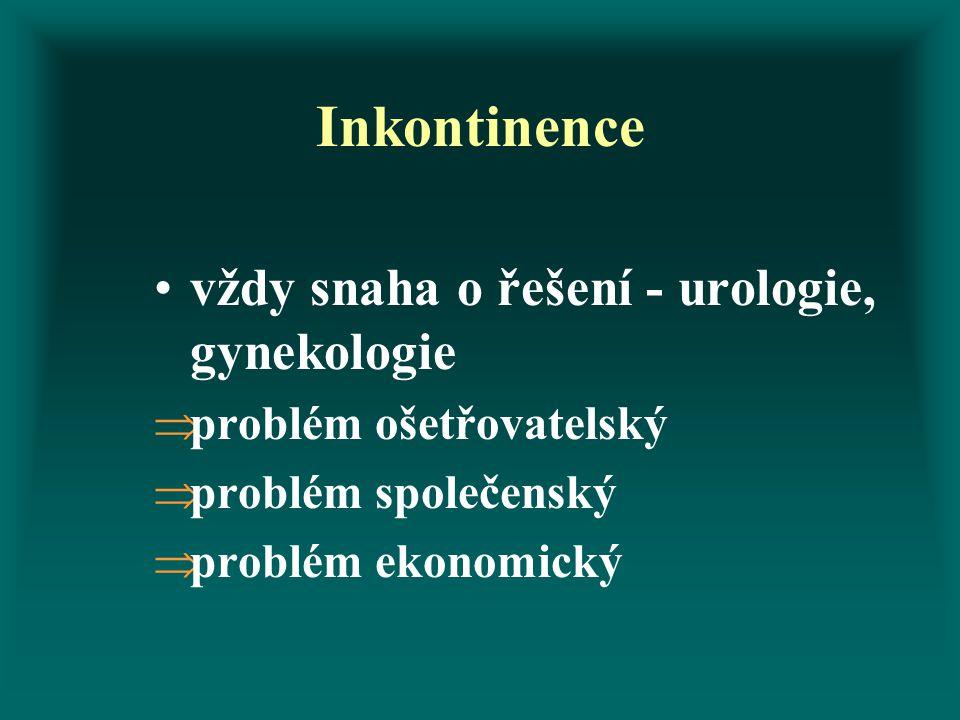 Inkontinence vždy snaha o řešení - urologie, gynekologie