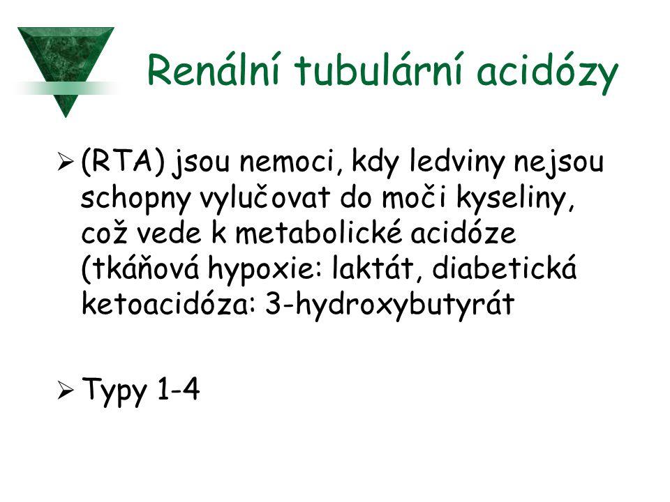 Renální tubulární acidózy