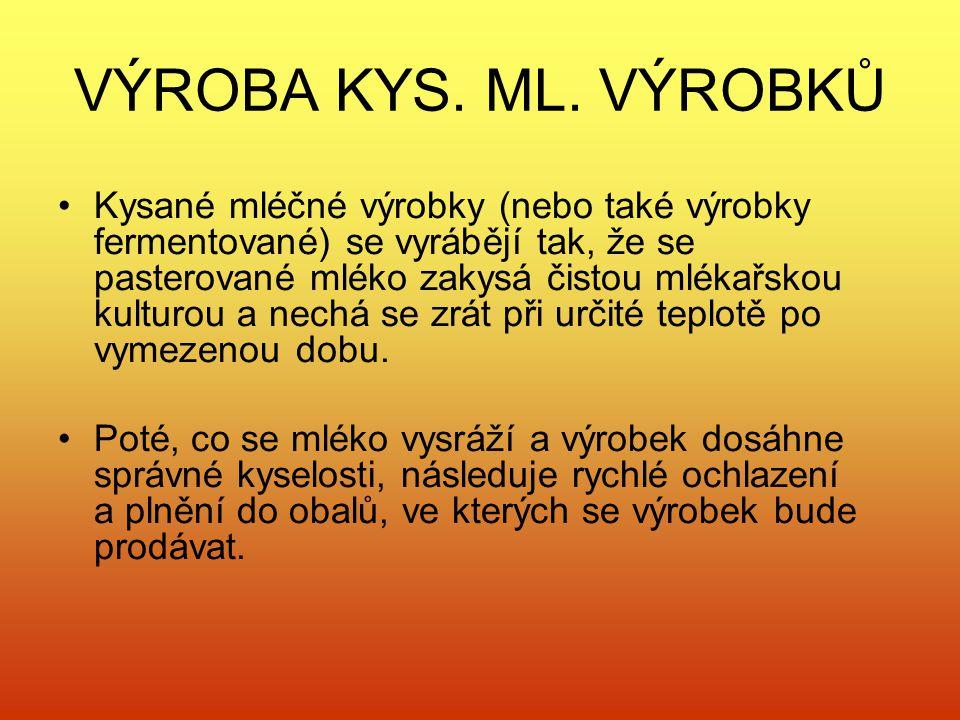 VÝROBA KYS. ML. VÝROBKŮ