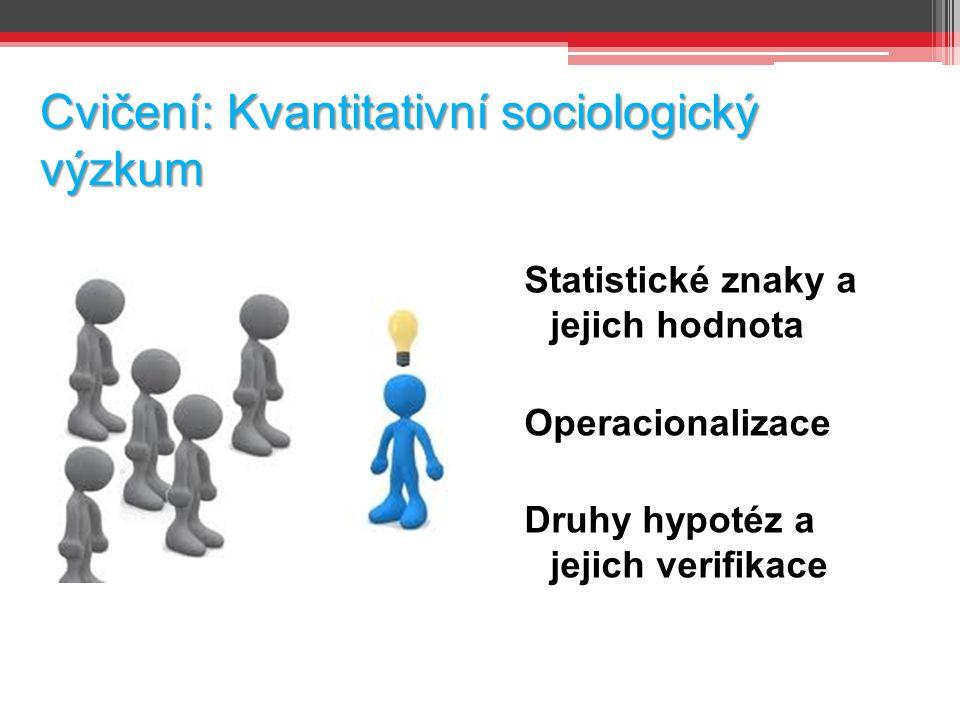 Cvičení: Kvantitativní sociologický výzkum