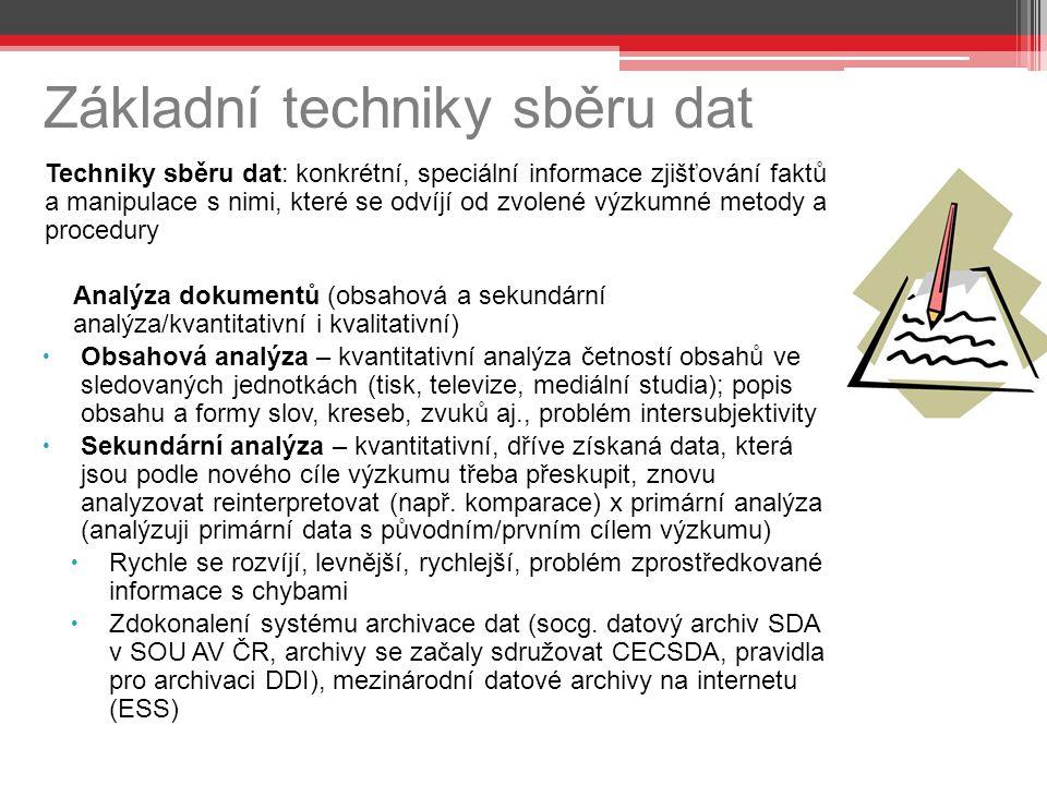 Základní techniky sběru dat