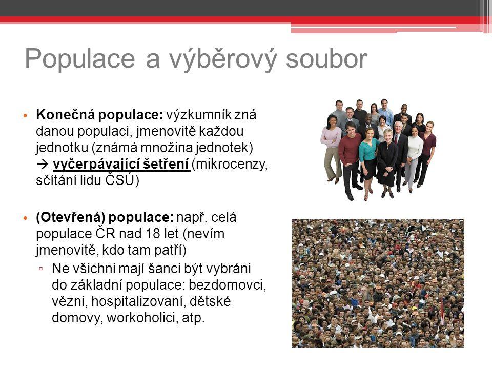 Populace a výběrový soubor