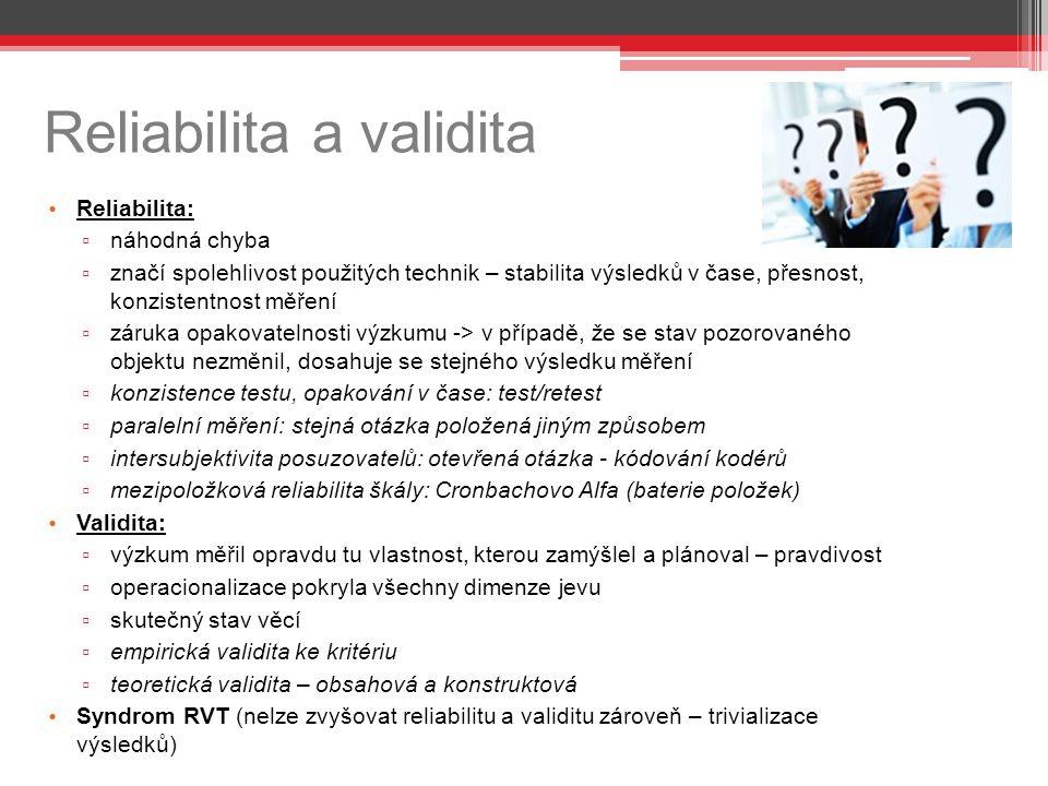 Reliabilita a validita