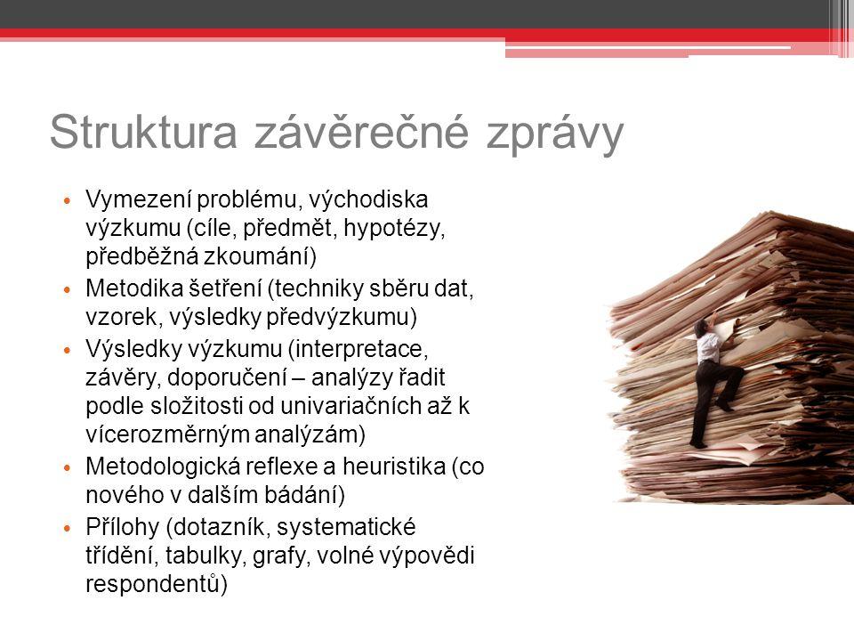 Struktura závěrečné zprávy