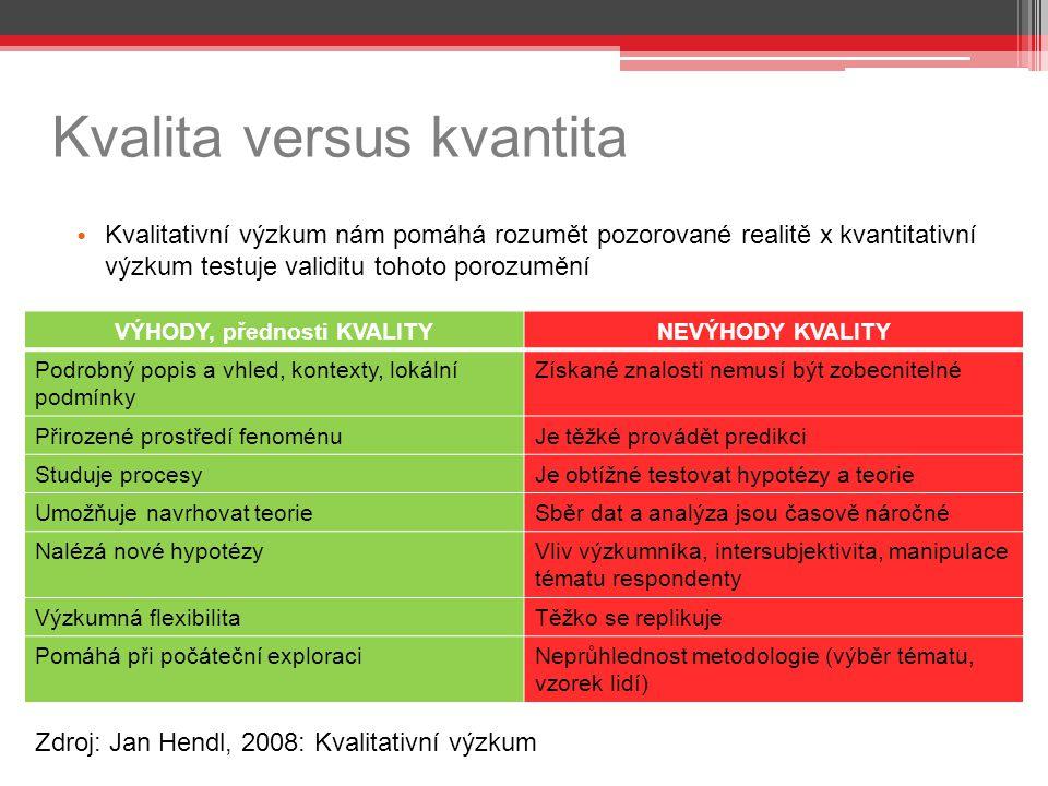 Kvalita versus kvantita