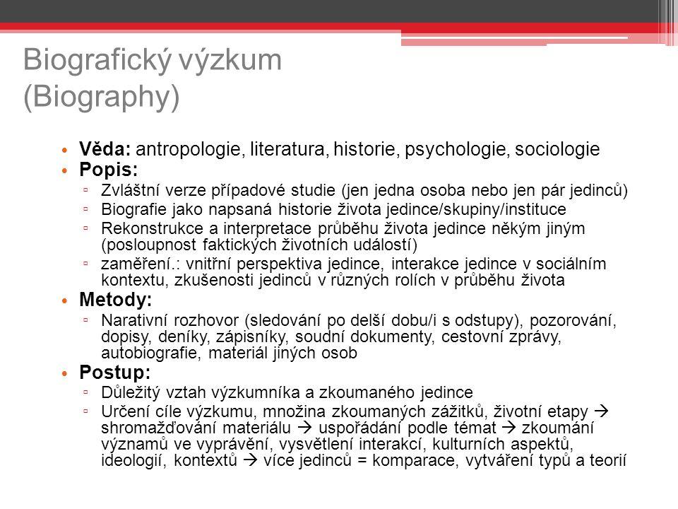 Biografický výzkum (Biography)