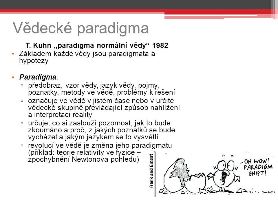 """T. Kuhn """"paradigma normální vědy 1982"""
