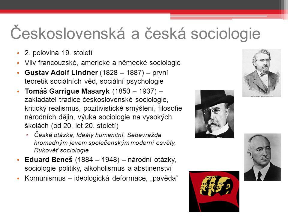 Československá a česká sociologie