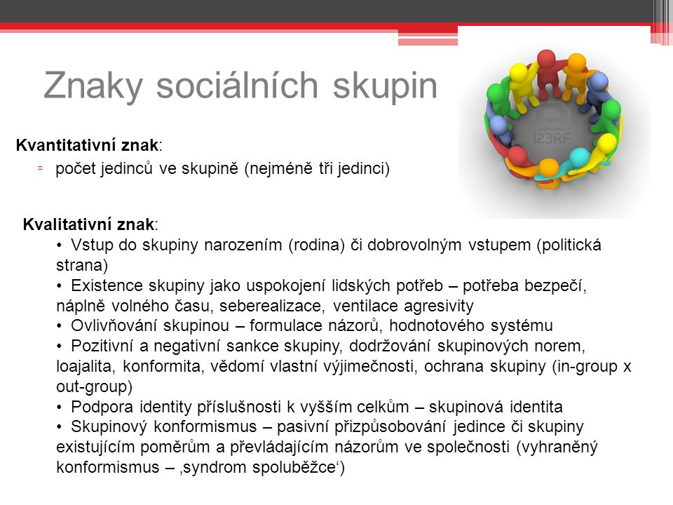 Znaky sociálních skupin