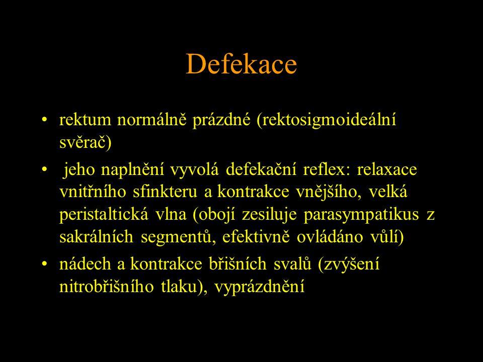 Defekace rektum normálně prázdné (rektosigmoideální svěrač)