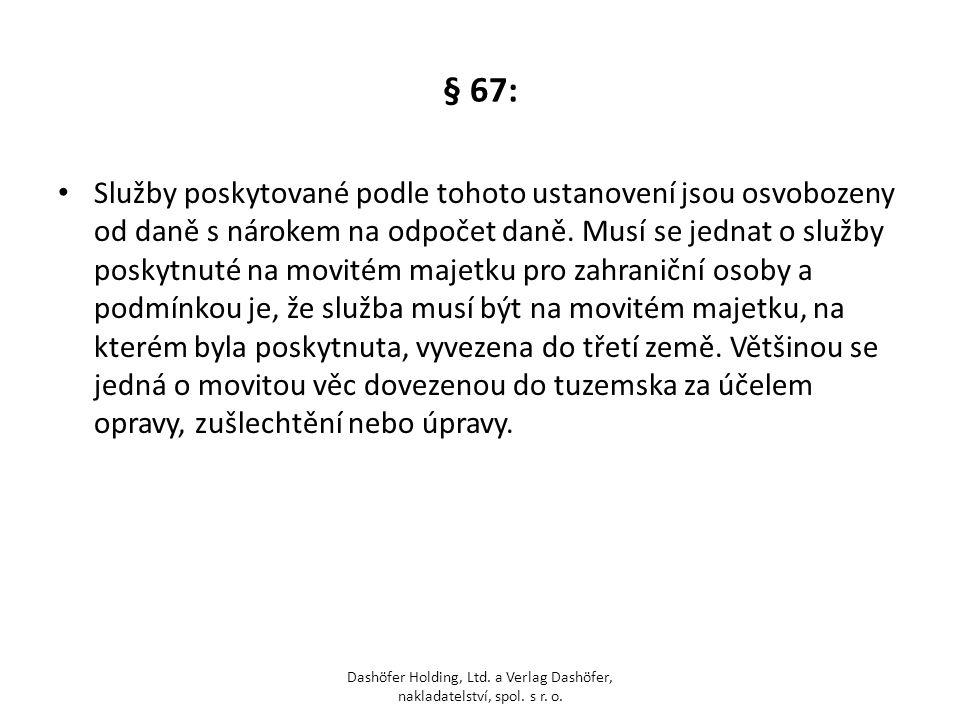 § 67: