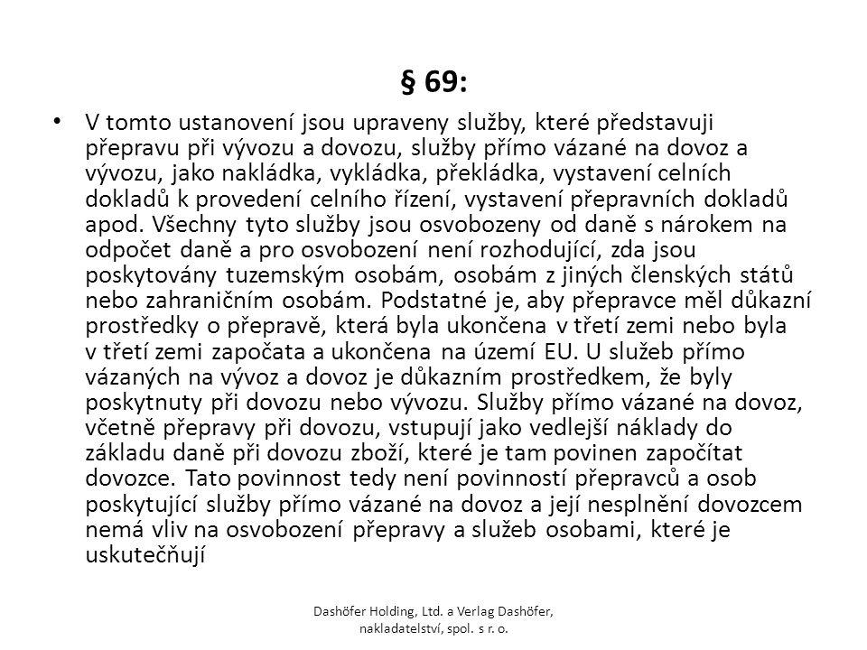 § 69: