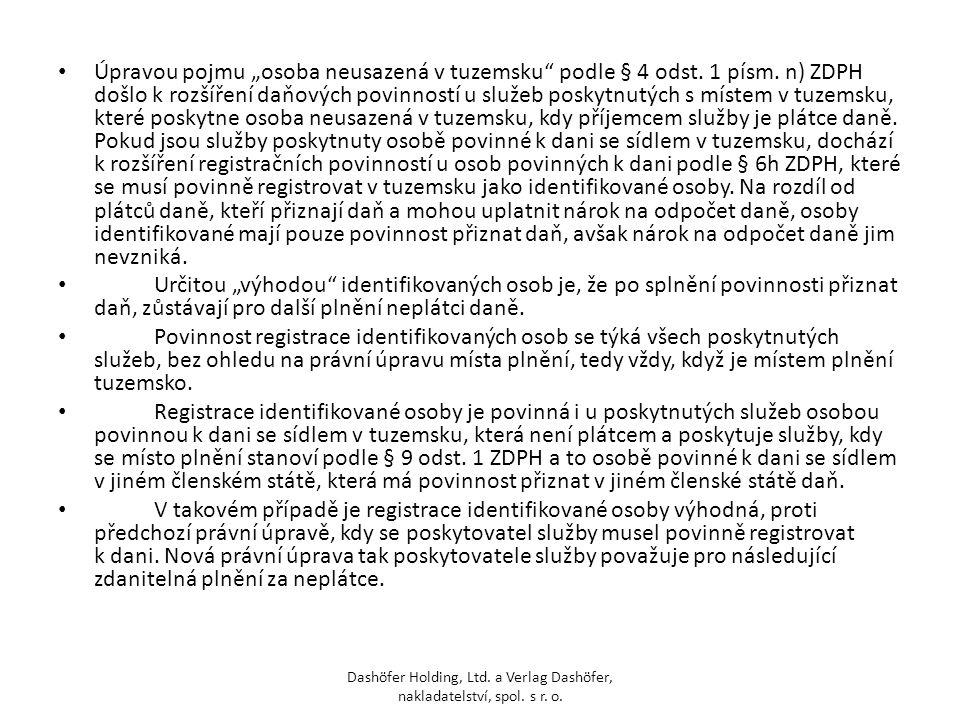 """Úpravou pojmu """"osoba neusazená v tuzemsku podle § 4 odst. 1 písm"""