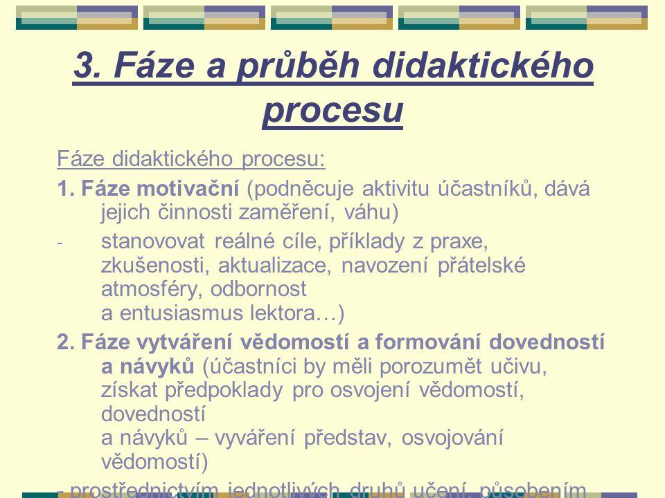3. Fáze a průběh didaktického procesu
