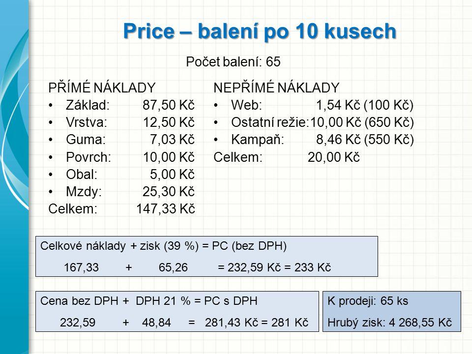 Price – balení po 10 kusech