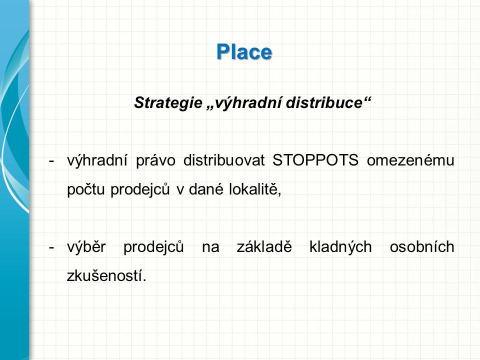 """Strategie """"výhradní distribuce"""
