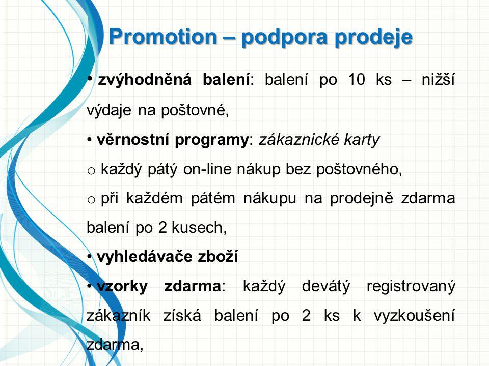 Promotion – podpora prodeje