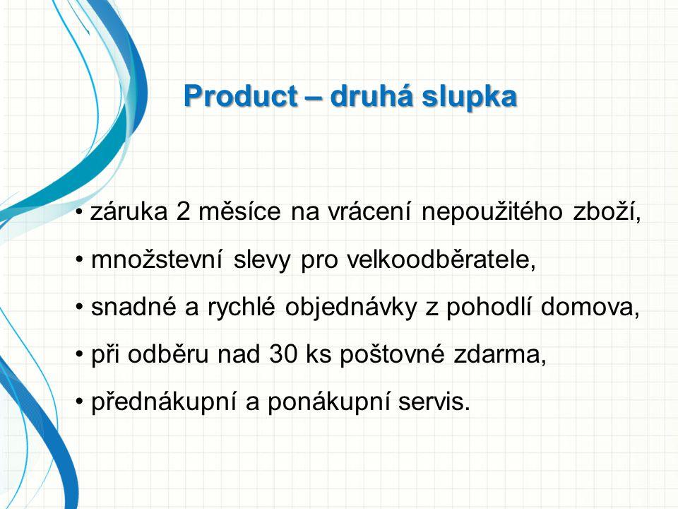 Product – druhá slupka množstevní slevy pro velkoodběratele,