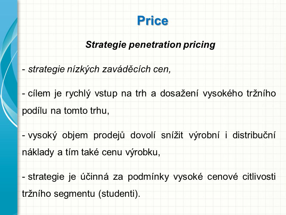 Strategie penetration pricing