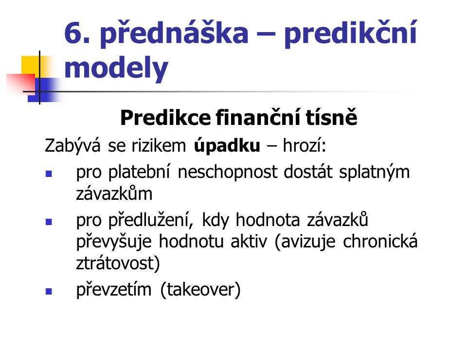 6. přednáška – predikční modely