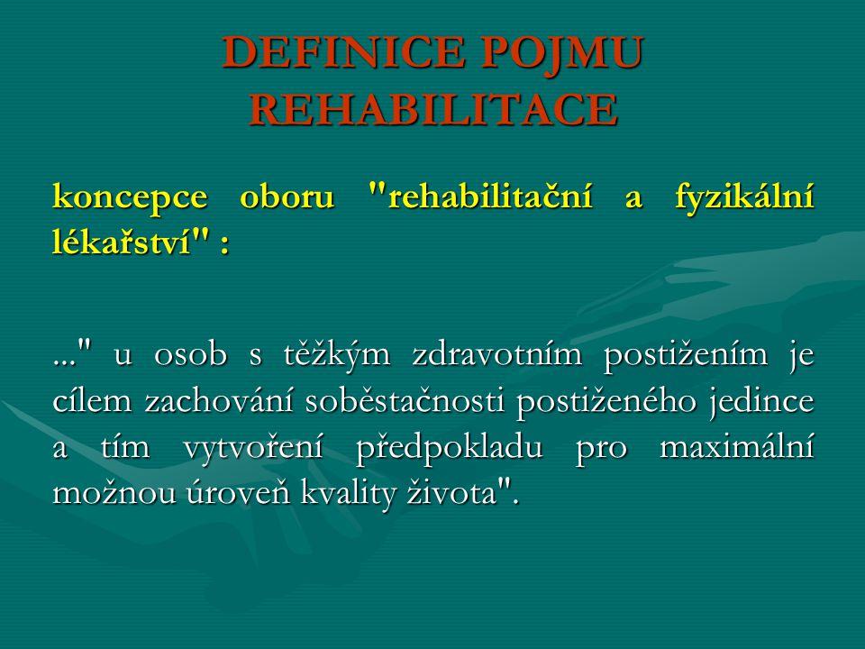 DEFINICE POJMU REHABILITACE