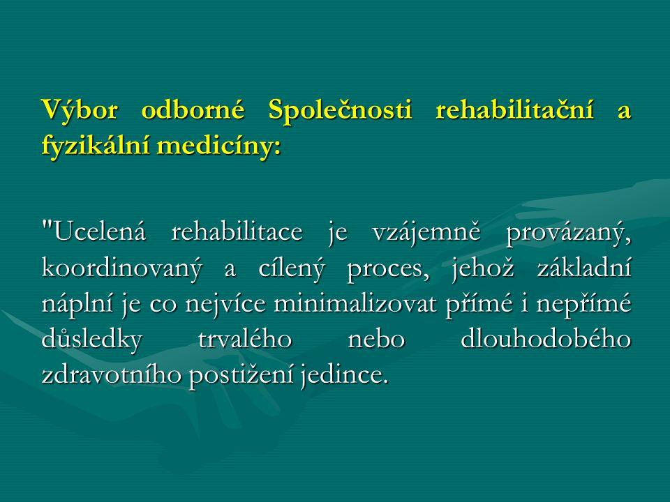 Výbor odborné Společnosti rehabilitační a fyzikální medicíny: