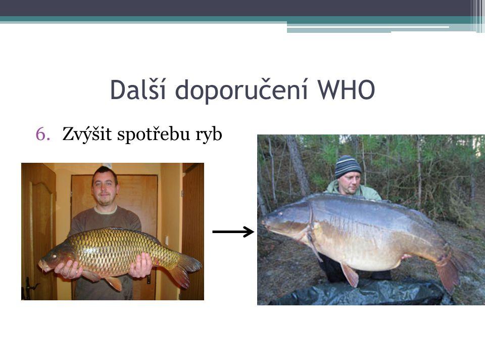 Další doporučení WHO Zvýšit spotřebu ryb