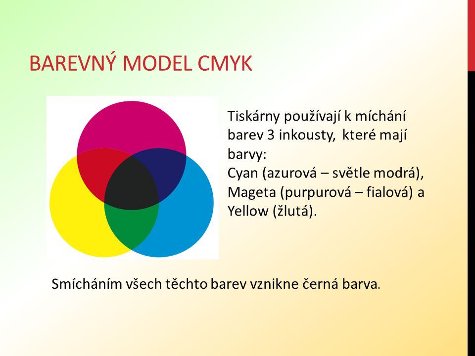 Barevný model cmyk