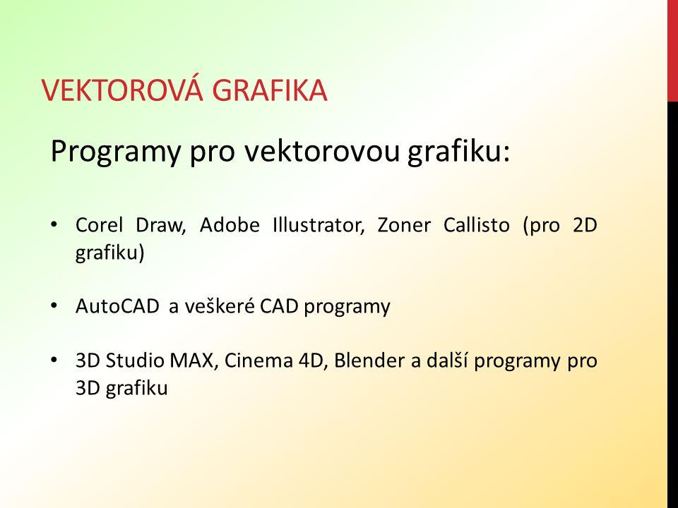 Programy pro vektorovou grafiku: