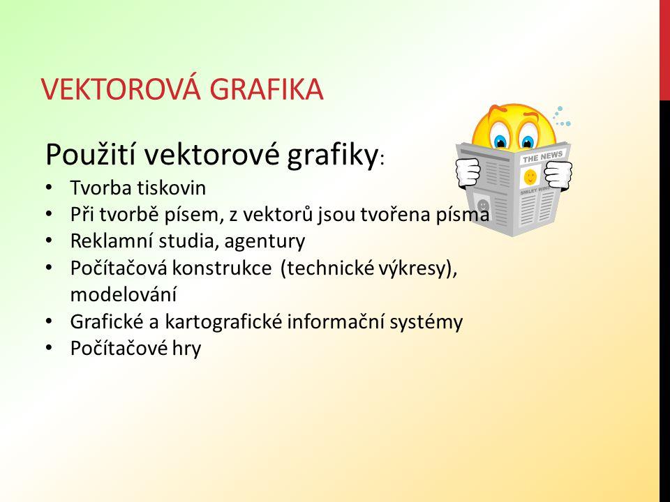 Použití vektorové grafiky: