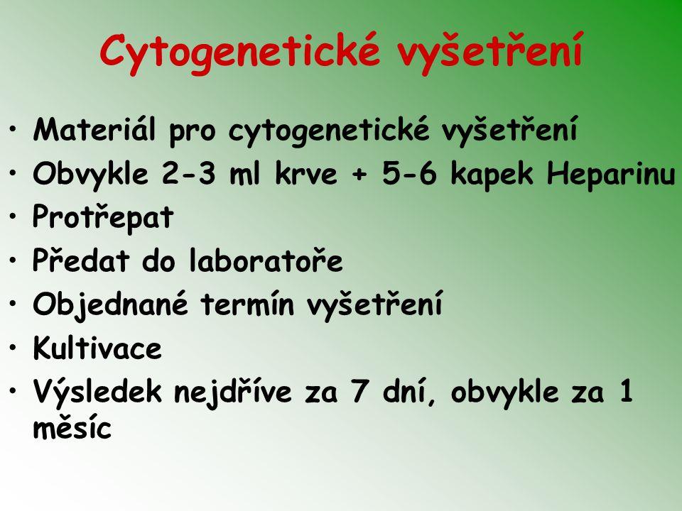 Cytogenetické vyšetření