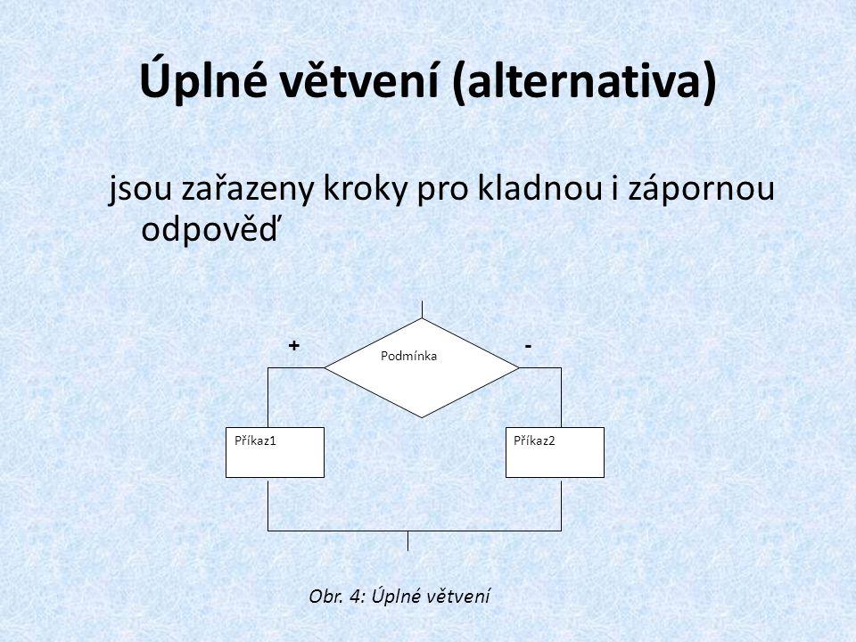 Úplné větvení (alternativa)