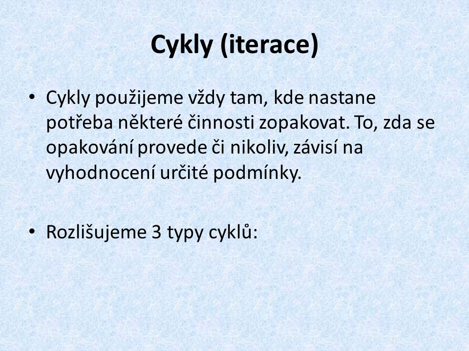 Cykly (iterace)