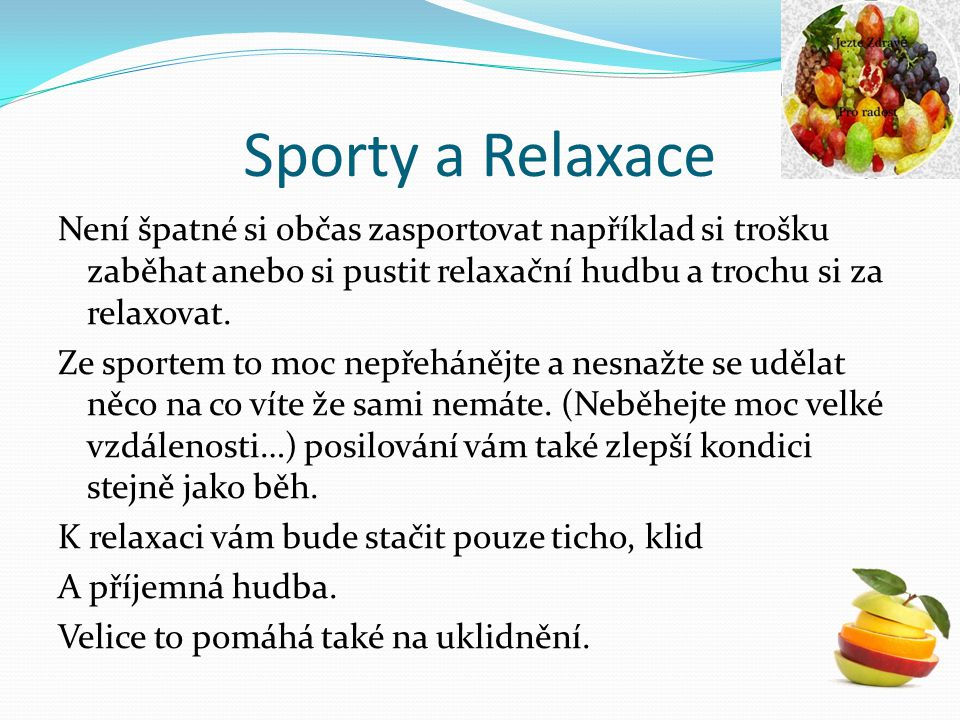 Sporty a Relaxace