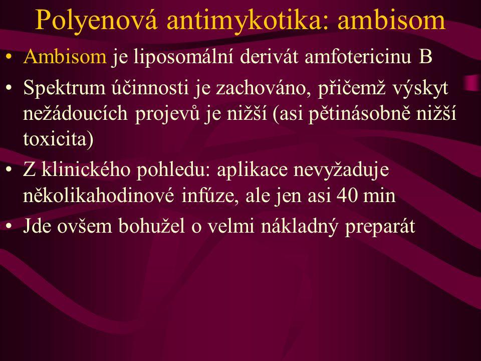 Polyenová antimykotika: ambisom