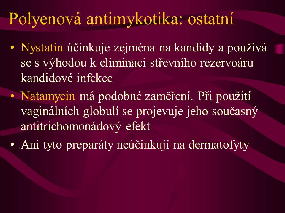 Polyenová antimykotika: ostatní