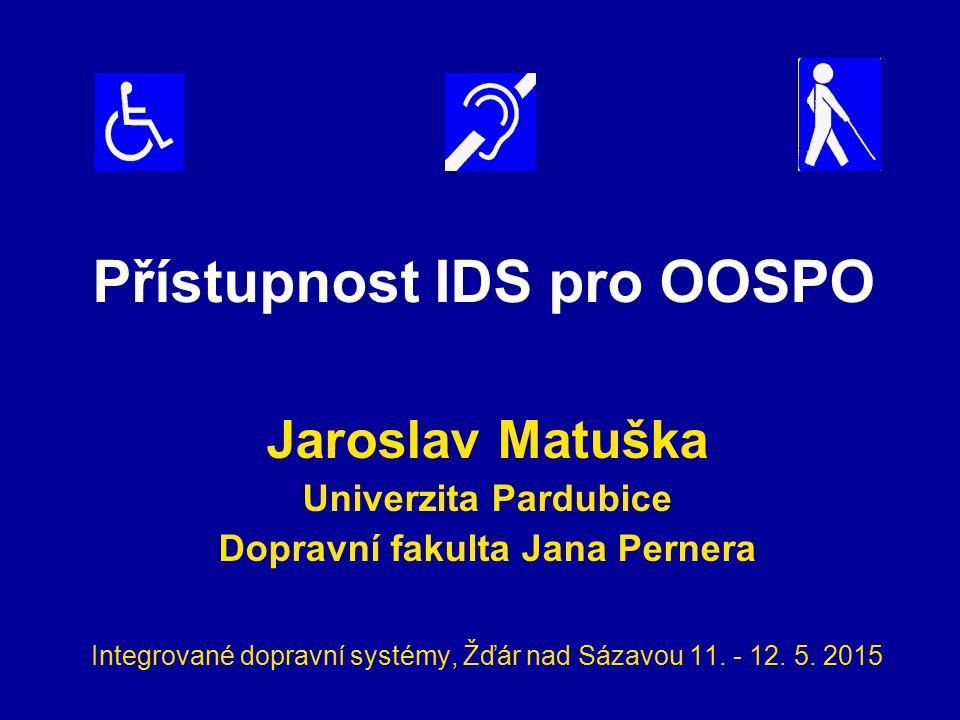 Přístupnost IDS pro OOSPO
