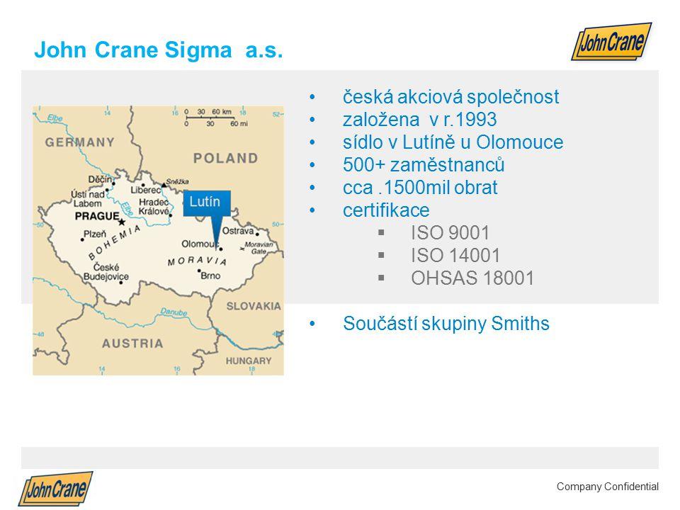 John Crane Sigma a.s. česká akciová společnost založena v r.1993