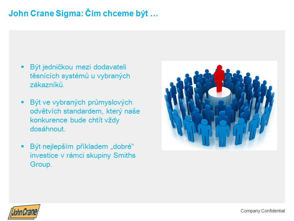 John Crane Sigma: Čím chceme být …