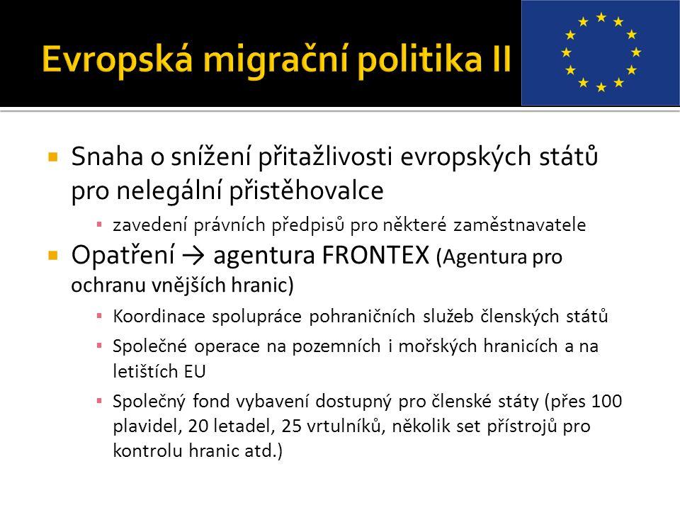 Evropská migrační politika II