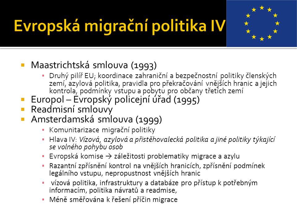 Evropská migrační politika IV
