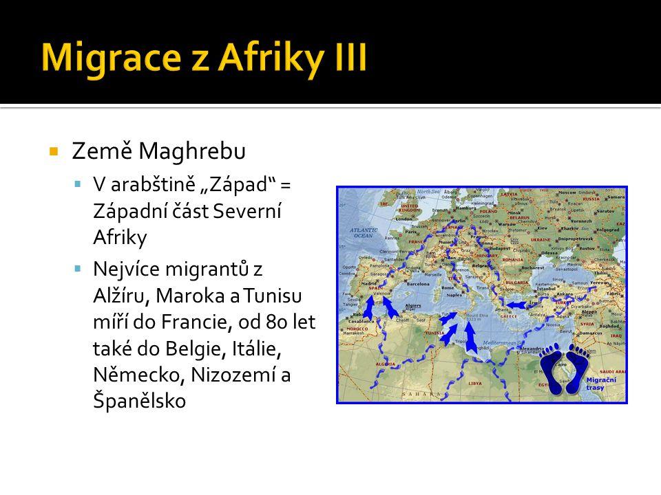 Migrace z Afriky III Země Maghrebu