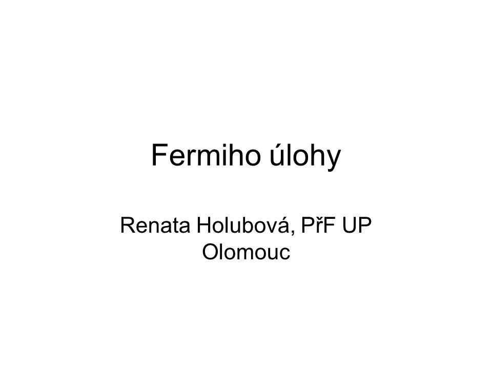 Renata Holubová, PřF UP Olomouc