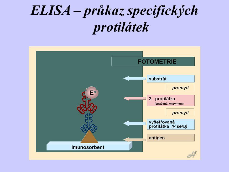 ELISA – průkaz specifických