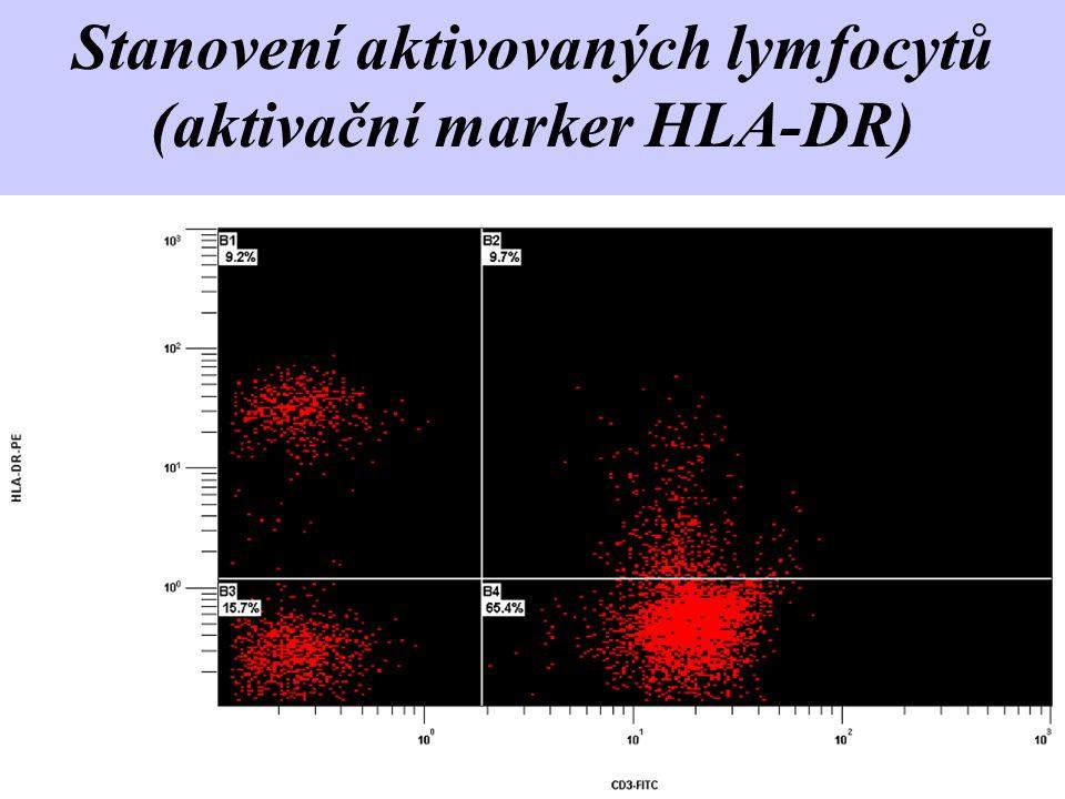 Stanovení aktivovaných lymfocytů (aktivační marker HLA-DR)