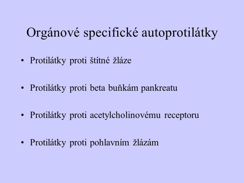 Orgánové specifické autoprotilátky