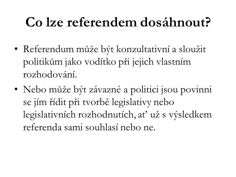 Co lze referendem dosáhnout