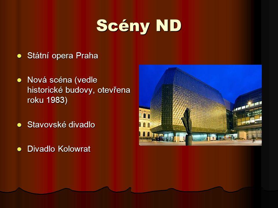 Scény ND Státní opera Praha