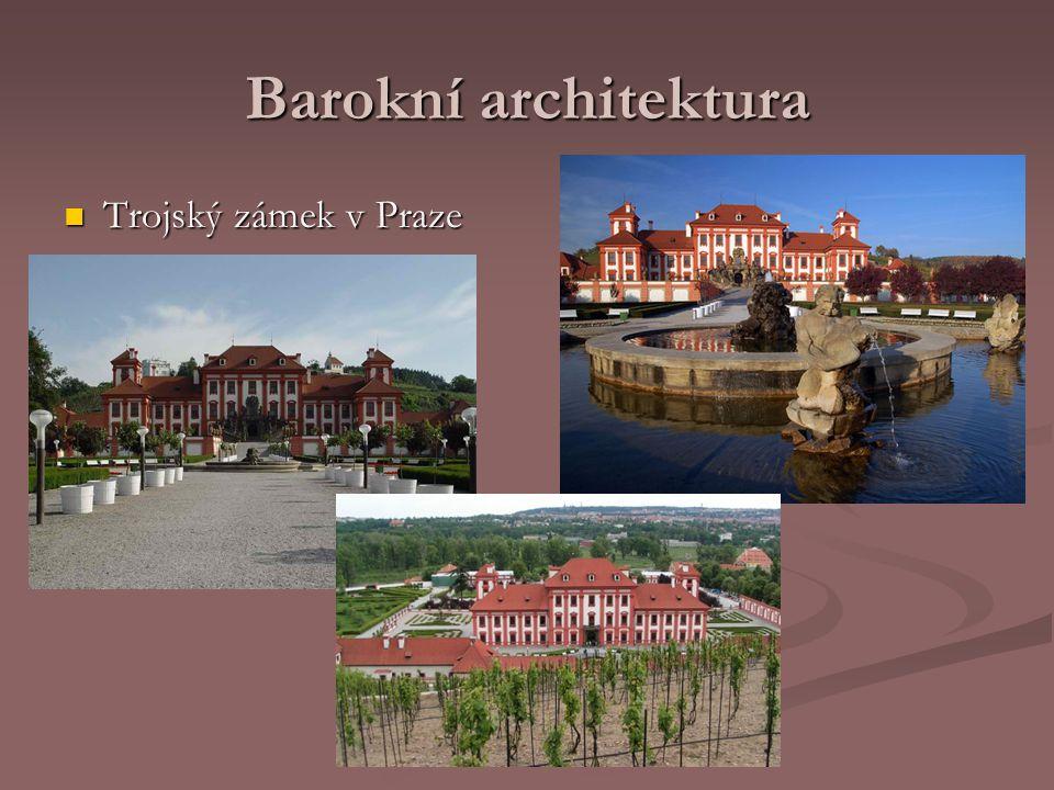 Barokní architektura Trojský zámek v Praze